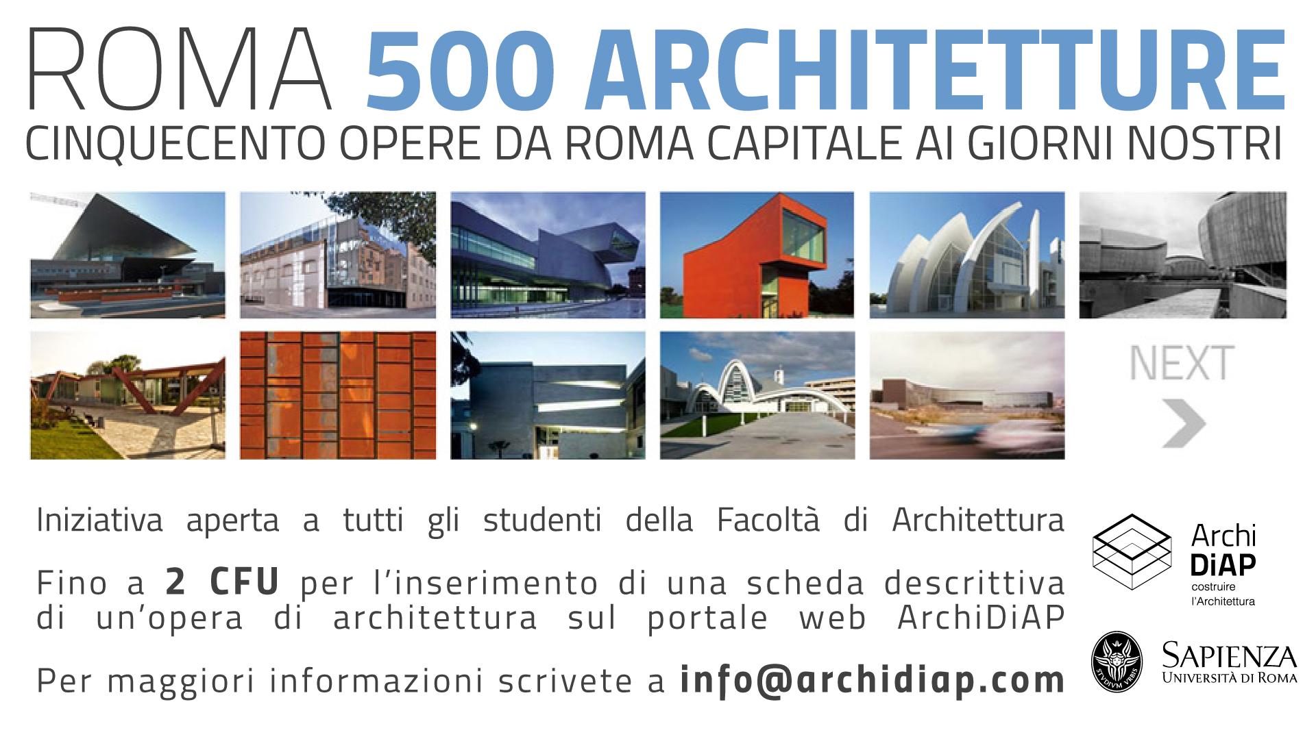 500 architetture 2014 2015 facolt di architettura for Studi di architettura roma
